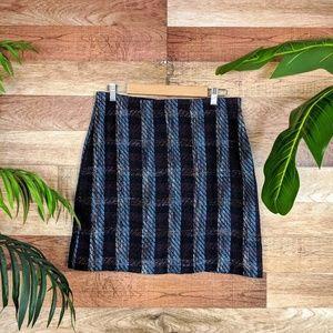 Loft Outlet Tweed Plaid Mini Skirt 12